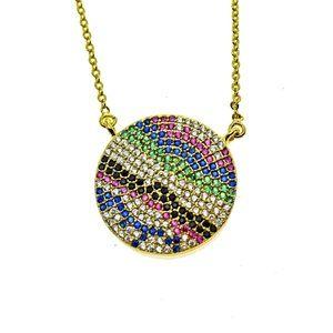 Jewelry - Multi color pave evil Eye necklace